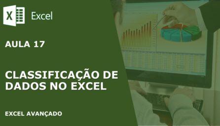 Classificação de Dados no Excel