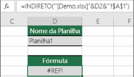Função INDIRETO no Excel