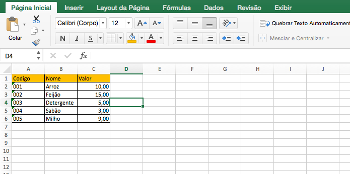Função PROCV no Excel -1