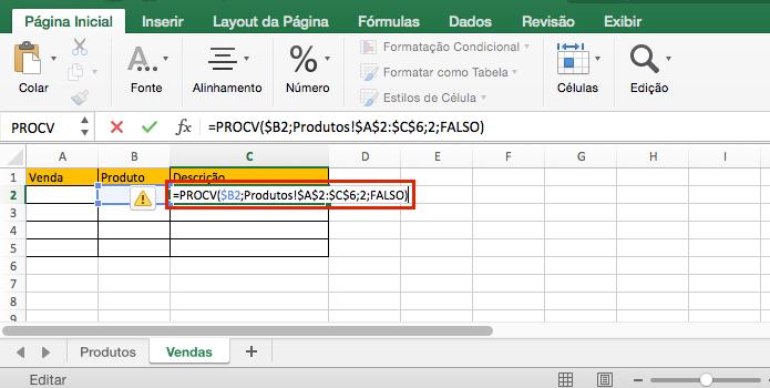 Função PROCV no Excel -2